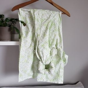 Other - Cotton Ring Sling Baby Carrier Green/White Print